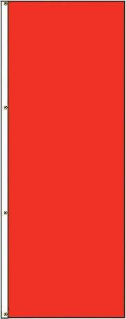 5' x 3' Solid Color Red Vertical Nylon Flag
