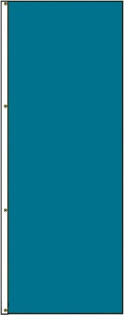 5' x 3' Solid Color Turquoise Vertical Nylon Flag
