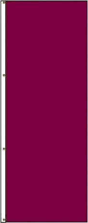 5' x 3' Solid Color Wineberry Vertical Nylon Flag