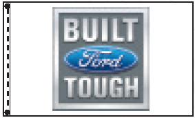3' x 5' Built Ford Tough Dealer Flag