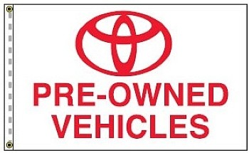 3' x 5' Toyota Pre-Owned Vehicles Dealer Flag