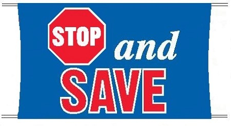 Stop And Save Banner