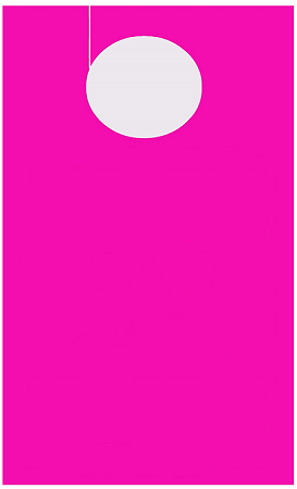 High Visibility Fuchsia Custom Pass - Face & Back Printing