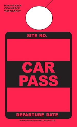 High Visibility Rocket Red Car Pass