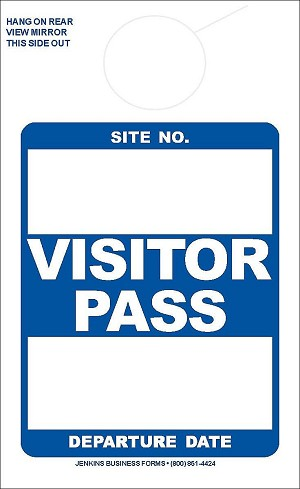 Blue Visitor Pass