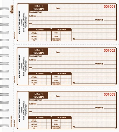 CRB-111 Cash Receipt Book