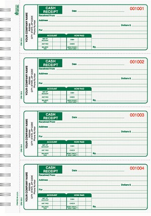 crb 120 cash receipt books