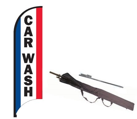 Car Wash Feather Flag Kit