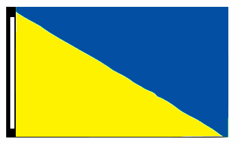 5' x 8' Yellow & Blue Diagonal Flag