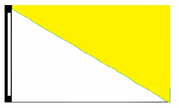 3' x 5' White & Yellow Diagonal Flag