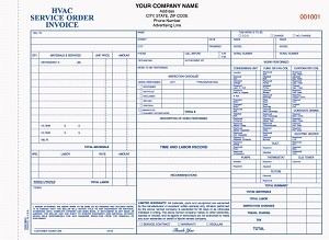 HVAC-683 Home Heating, Ventilation & Air Condition Repair Order