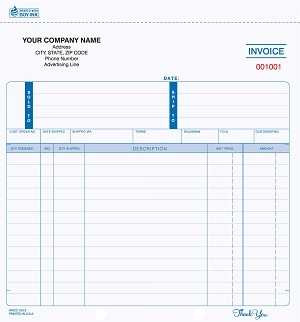 INV-752 4-Part Ruled Invoice