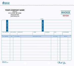 INVCC-755 2-Part Ruled Invoice