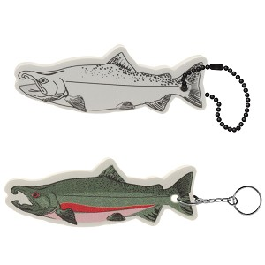 Salmon Floating Key Tag