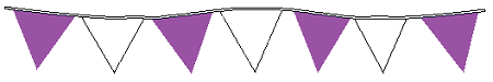100' String Of Purple & White Alternating Plasticloth Pennants
