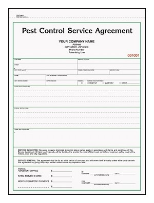 Vehicle Purchase Agreement >> Custom Pest Control Service Agreement PCCC-822 | JB Forms