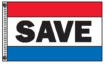 SAVE 3' x 5' Message Flag