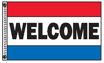 WELCOME 3' x 5' 2-Sided Message Flag