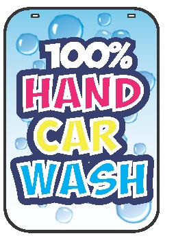 Swing Sign Replacement Single Sided Sign - 100% HAND CAR WASH