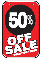 Swing Sign Replacement Single Sided Sign - 50% OFF SALE