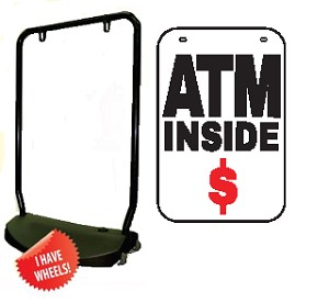 Single Sided Swing Sign Kit - ATM INSIDE