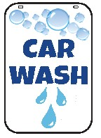 Swing Sign Replacement Double Sided Sign - CAR WASH