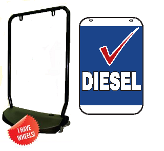 Single Sided Swing Sign Kit - DIESEL