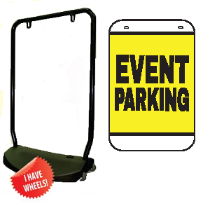 Single Sided Swing Sign Kit - EVENT PARKING