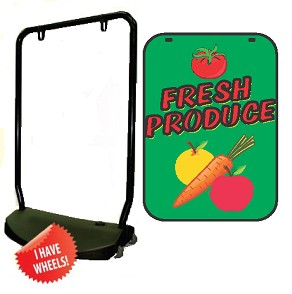 Single Sided Swing Sign Kit - FRESH PRODUCE