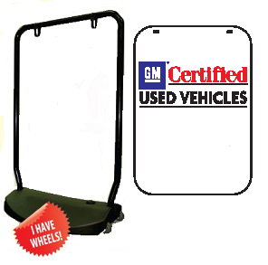Double Sided Swing Sign Kit - GM CERTIFIED USED VEHICLES