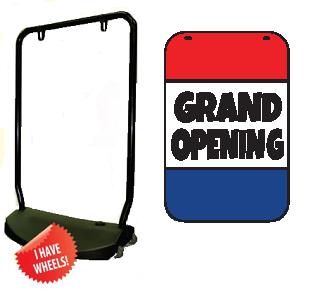Single Sided Swing Sign Kit - GRAND OPENING