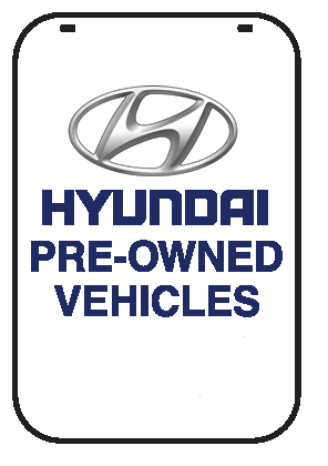 Swing Sign Replacement Single Sided Sign - HYUNDAI PRE-OWNED VEHICLES