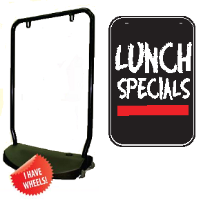 Single Sided Swing Sign Kit - LUNCH SPECIALS