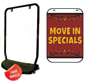 Single Sided Swing Sign Kit - MOVE IN SPECIALS