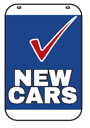 Swing Sign Replacement Single Sided Sign - NEW CARS