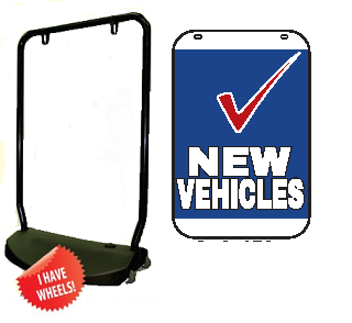 Single Sided Swing Sign Kit - NEW VEHICLES