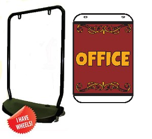 Single Sided Swing Sign Kit - OFFICE