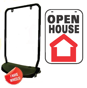Single Sided Swing Sign Kit - OPEN HOUSE