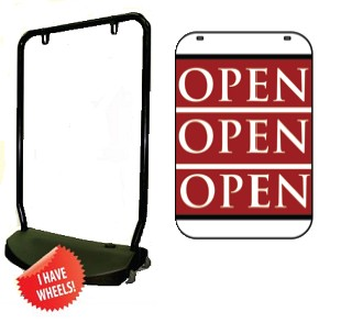 Single Sided Swing Sign Kit - OPEN