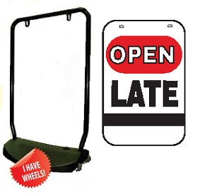 Single Sided Swing Sign Kit - OPEN LATE