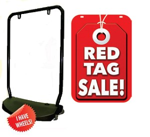 Single Sided Swing Sign Kit - RED TAG SALE