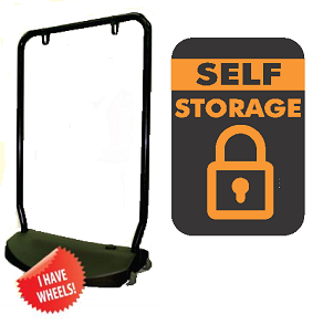 Single Sided Swing Sign Kit - SELF STORAGE