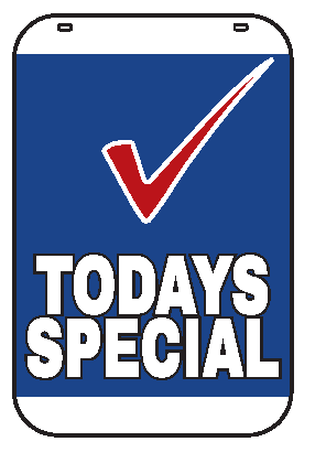 Swing Sign Replacement Single Sided Sign - TODAYS SPECIAL