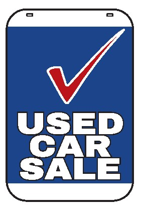 Swing Sign Replacement Single Sided Sign - USED CAR SALE