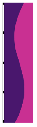 10' x 3' Pansy & Orchid Vertical Wave Flag